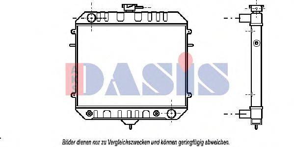 AKS DASIS 150038N Радиатор, охлаждение двигателя