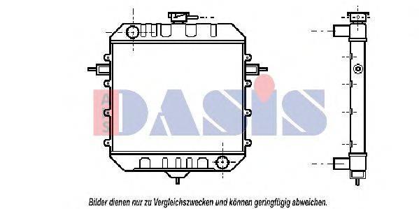 AKS DASIS 150120N Радиатор, охлаждение двигателя