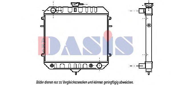 AKS DASIS 150140N Радиатор, охлаждение двигателя