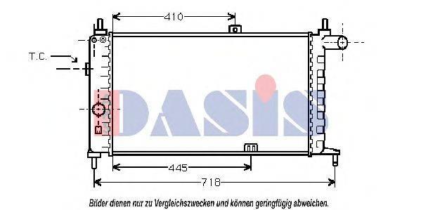 AKS DASIS 150630N Радиатор, охлаждение двигателя