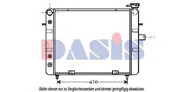 AKS DASIS 151690N Радиатор, охлаждение двигателя