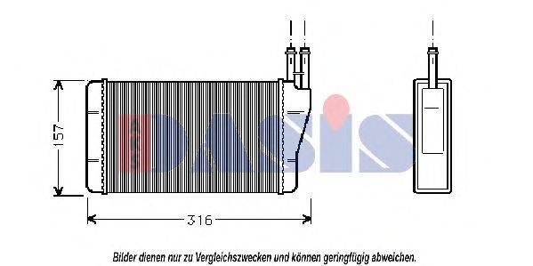 AKS DASIS 159080N Теплообменник, отопление салона