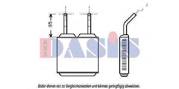 AKS DASIS 159200N Теплообменник, отопление салона