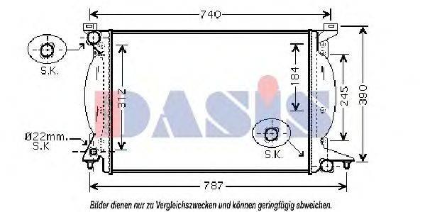 AKS DASIS 480065N Радиатор, охлаждение двигателя