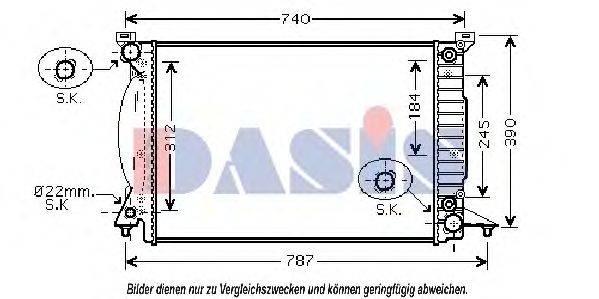 AKS DASIS 480069N Радиатор, охлаждение двигателя