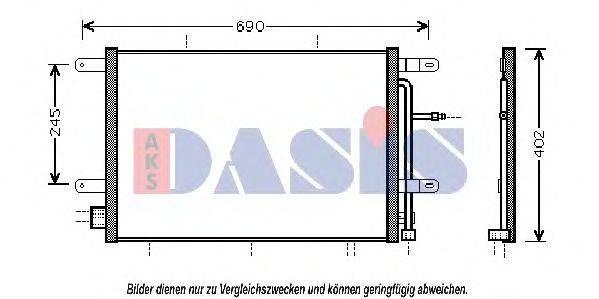 AKS DASIS 482013N Конденсатор, кондиционер