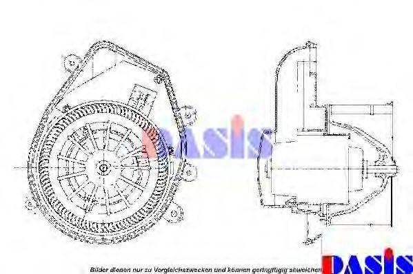 AKS DASIS 741420N Вентилятор салона
