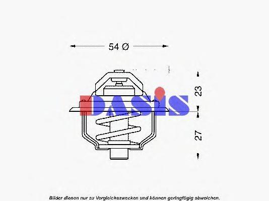 AKS DASIS 750075N Термостат, охлаждающая жидкость