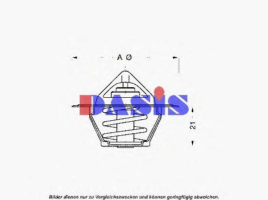 AKS DASIS 750096N Термостат, охлаждающая жидкость