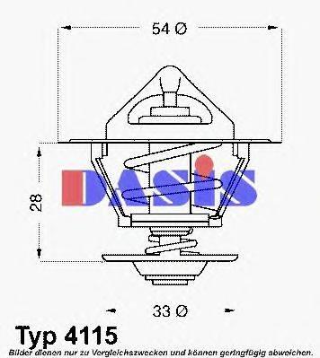 AKS DASIS 750507N Термостат, охлаждающая жидкость