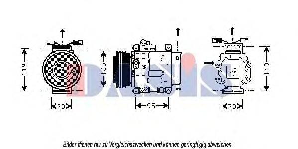 AKS DASIS 858440N Компрессор, кондиционер