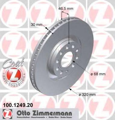 ZIMMERMANN 100124920 Тормозной диск