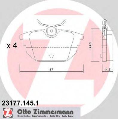 ZIMMERMANN 231771451 Комплект тормозных колодок, дисковый тормоз