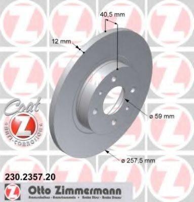 ZIMMERMANN 230235720 Тормозной диск