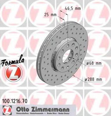 ZIMMERMANN 100121670 Тормозной диск