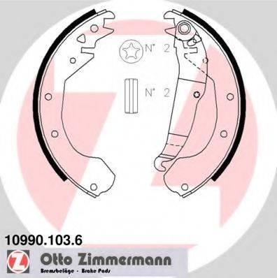 ZIMMERMANN 109901036 Комплект тормозных колодок