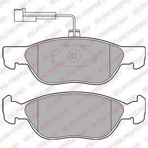 DELPHI LP1586 Комплект тормозных колодок, дисковый тормоз