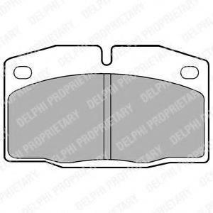 DELPHI LP415 Комплект тормозных колодок, дисковый тормоз
