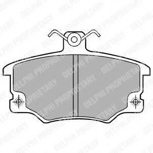 DELPHI LP459 Комплект тормозных колодок, дисковый тормоз