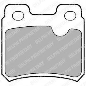 DELPHI LP586 Комплект тормозных колодок, дисковый тормоз