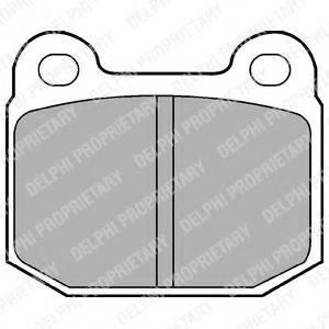 DELPHI LP87 Комплект тормозных колодок, дисковый тормоз