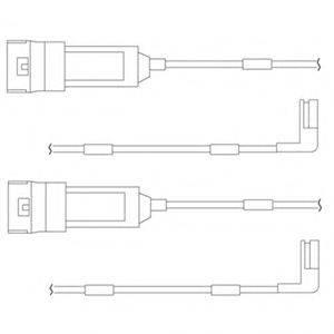 DELPHI LZ0114 Контрольный контакт, контроль слоя тормозных колодок