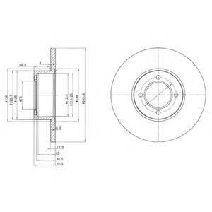 DELPHI BG2069 Тормозной диск