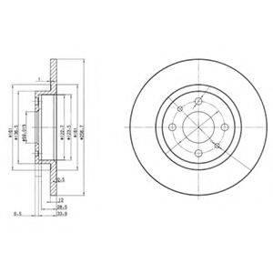 DELPHI BG2411 Тормозной диск