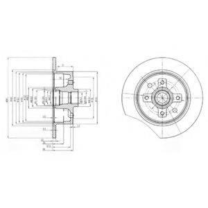 DELPHI BG2571 Тормозной диск