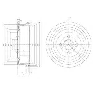 DELPHI BF103 Тормозной барабан