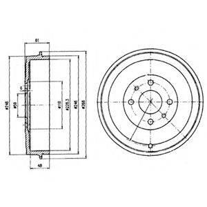 DELPHI BF379 Тормозной барабан