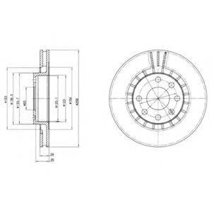 DELPHI BG2443 Тормозной диск