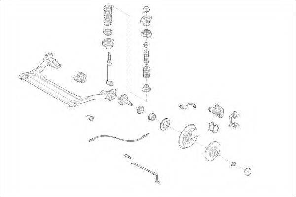 DELPHI AUDI11365R Подвеска колеса