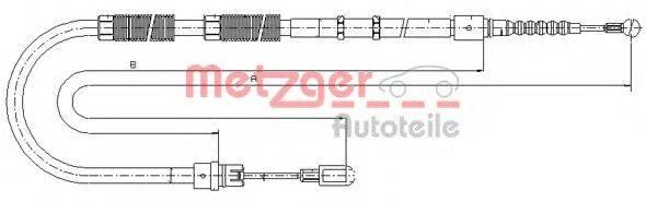 METZGER 107535 Трос, стояночная тормозная система