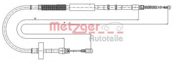 METZGER 107537 Трос, стояночная тормозная система