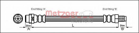 METZGER 4114776 Тормозной шланг