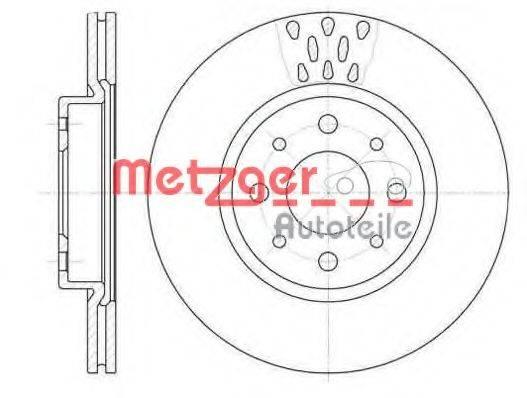METZGER 618910 Тормозной диск