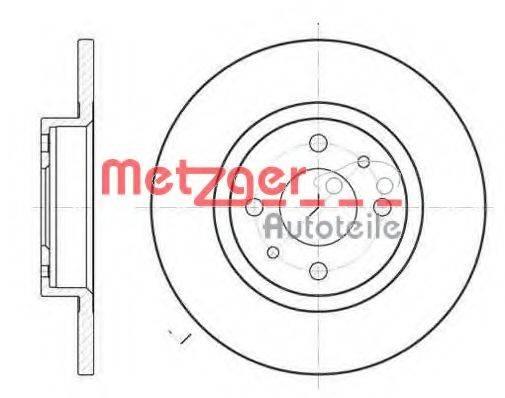 METZGER 619100 Тормозной диск