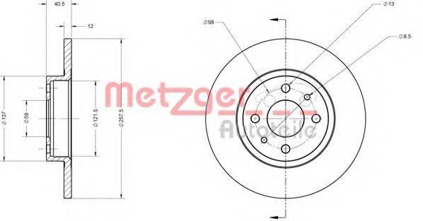 METZGER 6110124 Тормозной диск