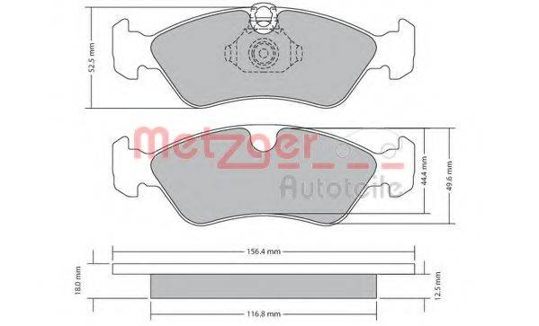 METZGER 1170235 Комплект тормозных колодок, дисковый тормоз