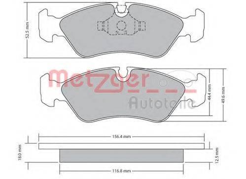 METZGER 1170252 Комплект тормозных колодок, дисковый тормоз