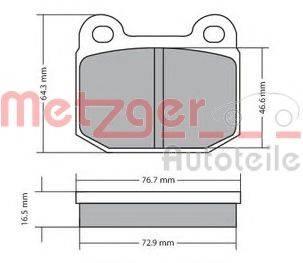 METZGER 1170425 Комплект тормозных колодок, дисковый тормоз