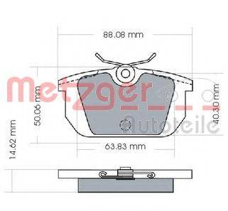 METZGER 1170487 Комплект тормозных колодок, дисковый тормоз