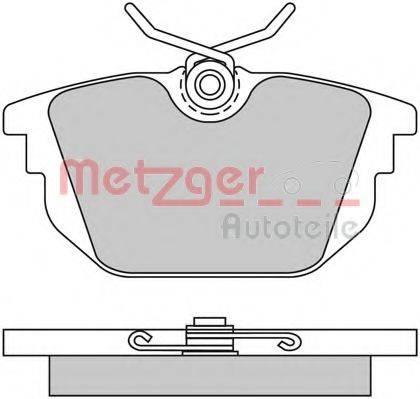 METZGER 1170497 Комплект тормозных колодок, дисковый тормоз