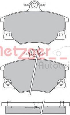 METZGER 1170513 Комплект тормозных колодок, дисковый тормоз