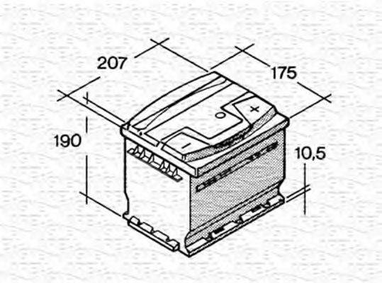 MAGNETI MARELLI 067143640003 Стартерная аккумуляторная батарея; Стартерная аккумуляторная батарея
