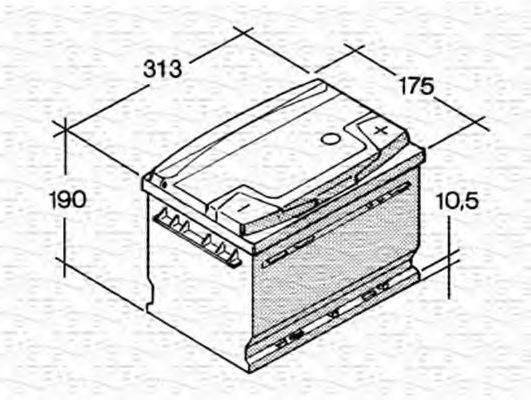 MAGNETI MARELLI 067154240003 Стартерная аккумуляторная батарея; Стартерная аккумуляторная батарея