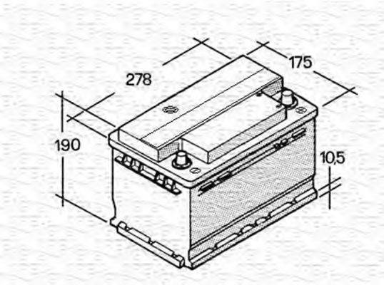 MAGNETI MARELLI 067147612003 Стартерная аккумуляторная батарея; Стартерная аккумуляторная батарея