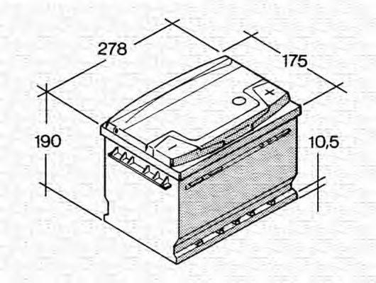 MAGNETI MARELLI 067147650005 Стартерная аккумуляторная батарея; Стартерная аккумуляторная батарея