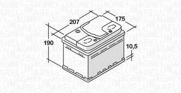 MAGNETI MARELLI 068045036010 Стартерная аккумуляторная батарея